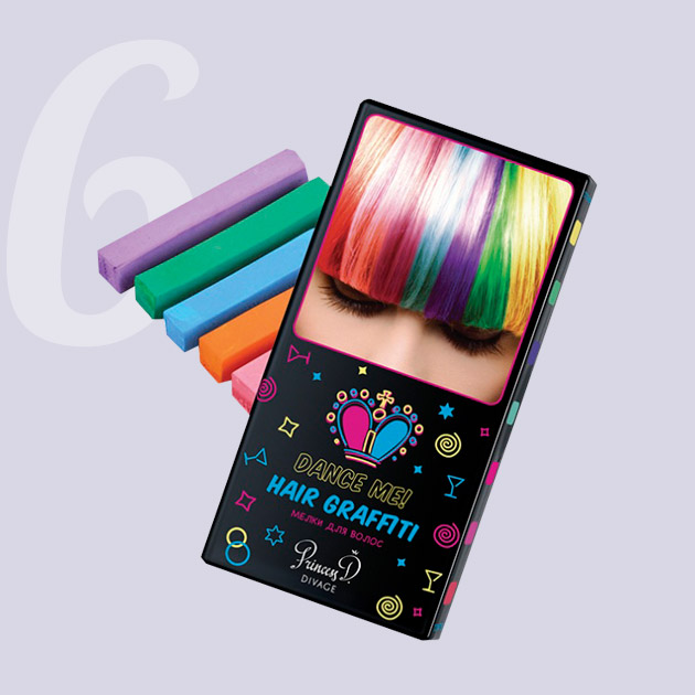 Divage Hair Graffiti Bright pastel, 5 шт